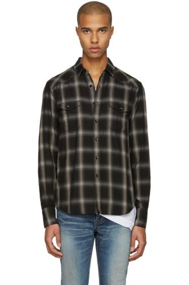 Saint Laurent - Grey Check Shirt