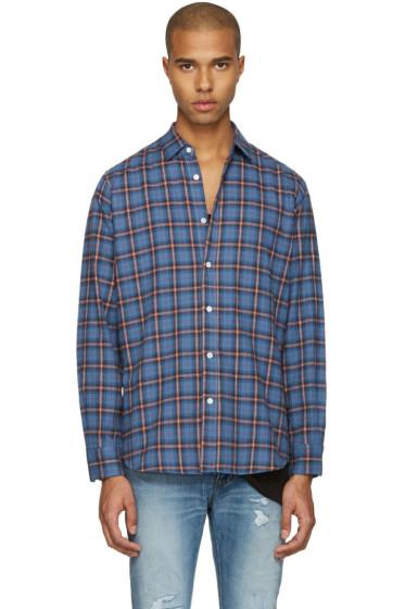 Saint Laurent - Blue Check Shirt