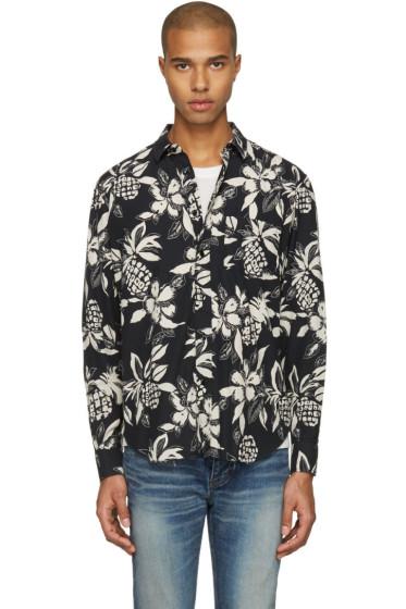 Saint Laurent - Black Hibiscus Shirt
