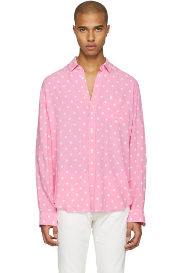 Saint Laurent - Pink Polka Dot Shirt