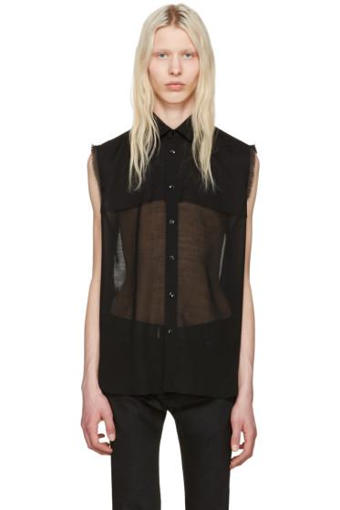 Saint Laurent - Black Sheer Shirt