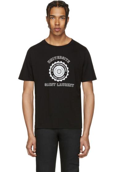 Saint Laurent - Black Université T-Shirt