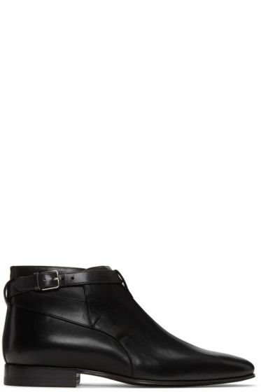 Saint Laurent - Black Leather London Boots