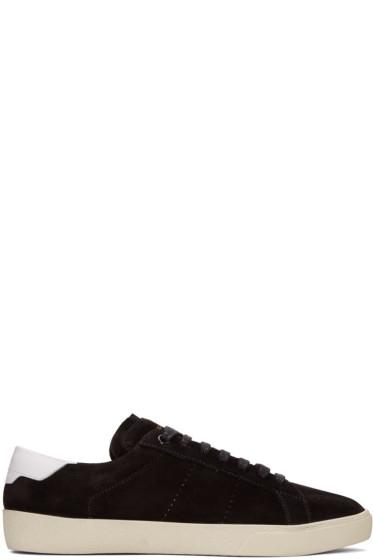 Saint Laurent - Black Suede SL/06 Court Classic Sneakers