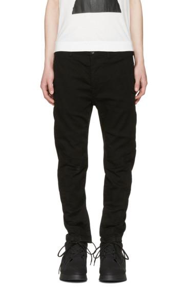 Julius - Black Zip Cuff Jeans