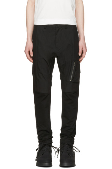 Julius - Black Panelled Cargo Trousers