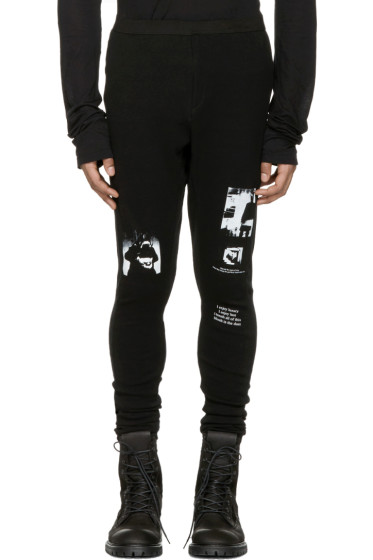 Julius - Black Printed Lounge Pants