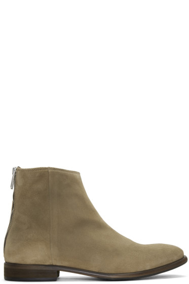 PS by Paul Smith - Taupe Suede Jean Chelsea Boots