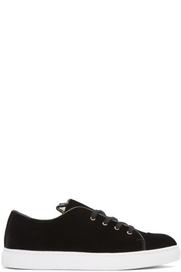 Charlotte Olympia - Black Velvet Purrrfect Sneakers