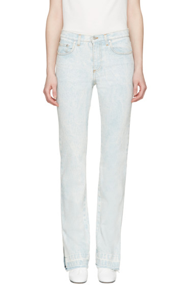 MSGM - Blue Marbled Wash Vented Cuffs Jeans