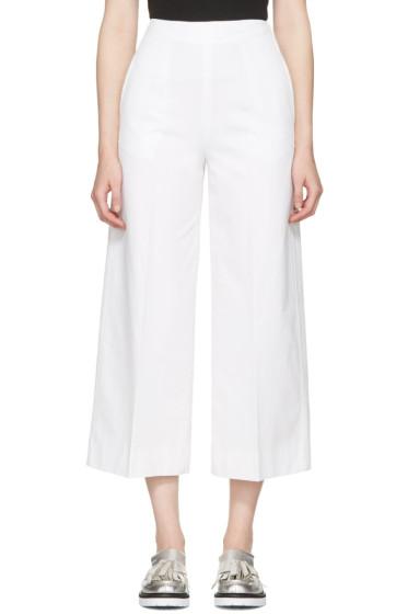 MSGM - White Wide-Leg Trousers