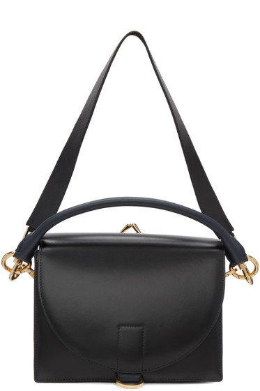 Sacai - Black Leather Satchel