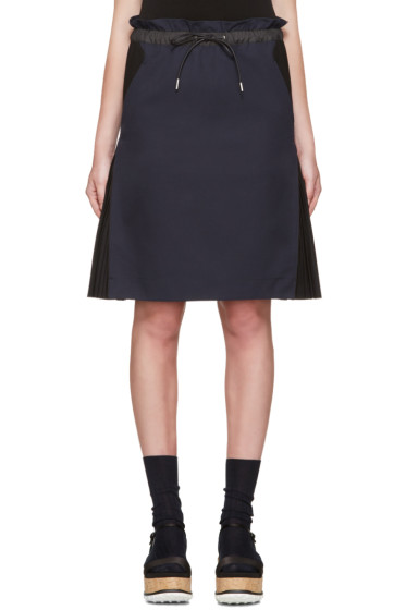 Sacai - Navy Twill Skirt