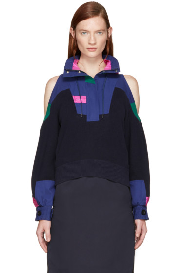 Sacai - Navy Knit Pullover