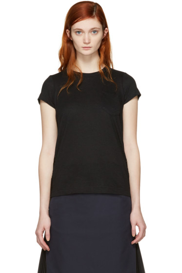 Sacai - Black Dot Lace T-Shirt