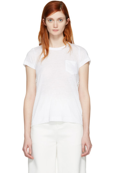 Sacai - White Dot Lace T-Shirt
