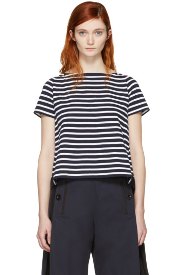 Sacai - Navy Striped Dixie T-Shirt