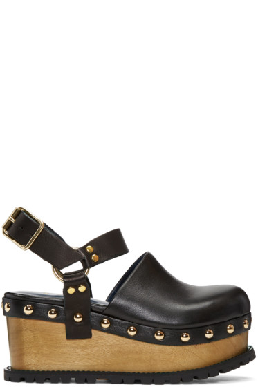 Sacai - Black Clog Sandals