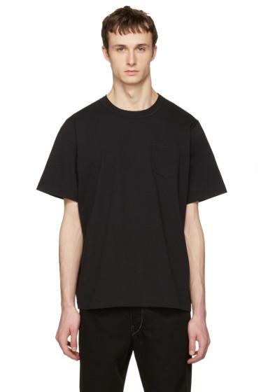 Sacai - Black Cotton T-Shirt
