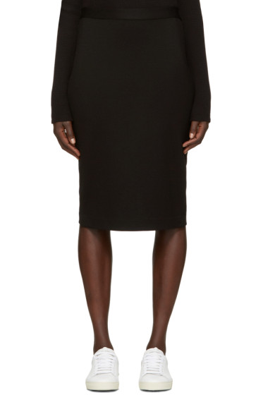 6397 - Black Stretch Pencil Skirt