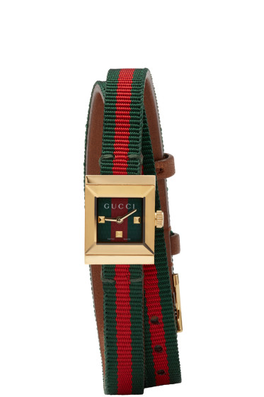 Gucci - Red & Green G-Frame Watch