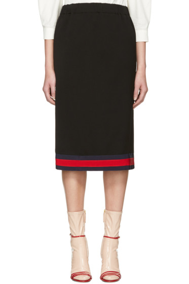 Gucci - Navy Web Ribbon Skirt
