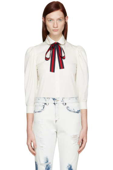 Gucci - Ivory Ribbon Shirt