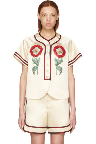 Gucci - Beige 'Loved' Embroidered Duchesse Shirt