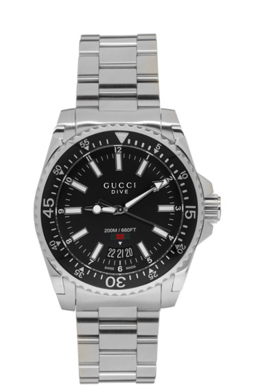 Gucci - Silver XL Dive Watch