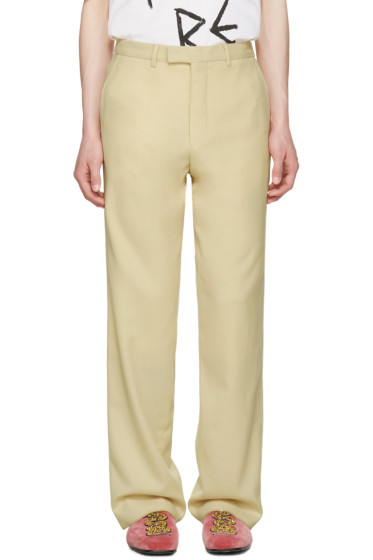 Gucci - Ivory Wool Flannel Trousers