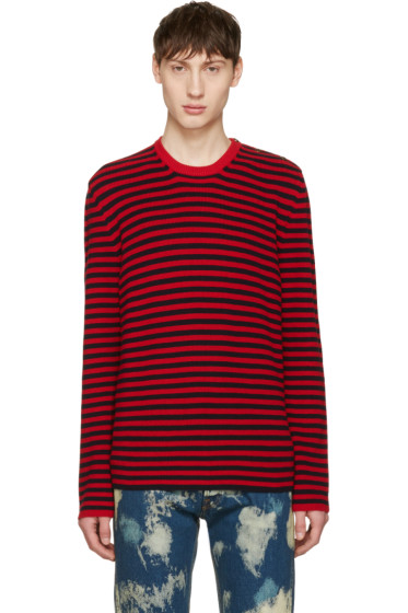Gucci - Red & Black Stripes Sweater