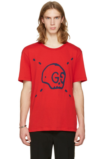Gucci - Red Gucci Ghost T-Shirt