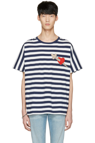 Gucci - Navy Heart & Arrow T-Shirt