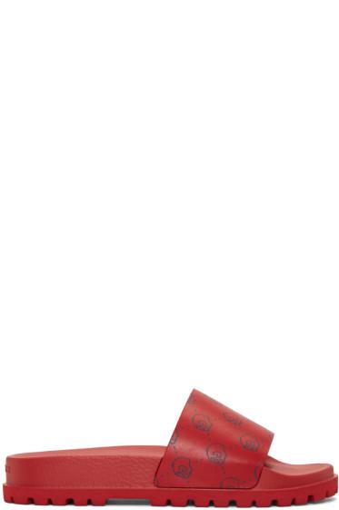 Gucci - Red Gucci Ghost Pursuit Trek Sandals