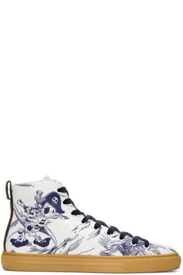 Gucci - Navy Sea Storm High-Top Sneakers