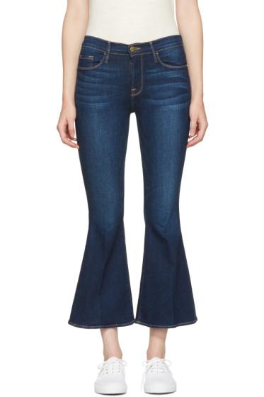 Frame Denim - Indigo Le Crop Bell Jeans