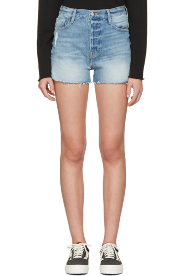 Frame Denim - Blue Denim Le Original Tulip Shorts