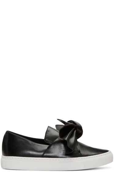 Cédric Charlier - Black Bow Slip-On Sneakers