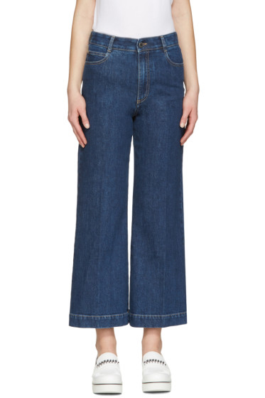 Stella McCartney - Indigo Crop Flare Jeans