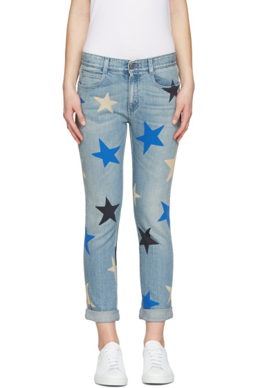 Stella McCartney - Blue Star Skinny Boyfriend Jeans