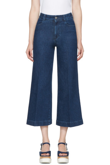 Stella McCartney - Blue Wide-Leg Jeans