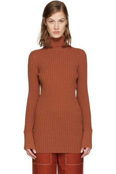 Stella McCartney - Orange Ribbed Turtleneck