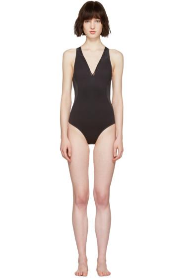 Stella McCartney - Black Neoprene & Mesh Swimsuit