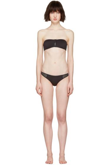 Stella McCartney - Black Neoprene & Mesh Bikini