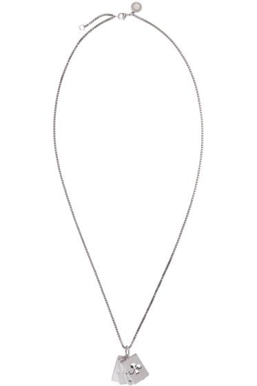 Stella McCartney - Silver Cards Necklace