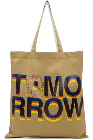 Stella McCartney - White & Tan 'Tomorrow' Tote