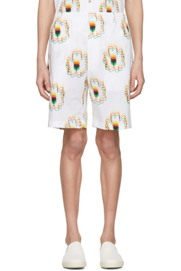 Stella McCartney - White Psychedelic Flower Shorts