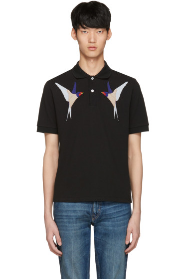 Stella McCartney - Black Birds Polo