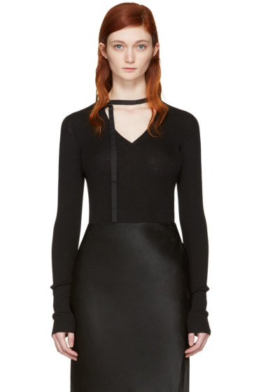 Nina Ricci - Black V-Neck Sweater