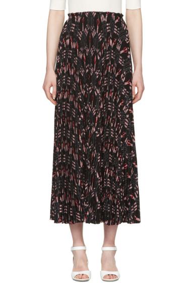 Valentino - Black Pleated Love Blade Skirt